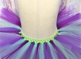 Green and Purple elastic Tutu (Size 3-6 years old)