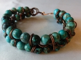 Jasper and Copper Bracelet