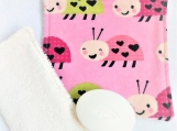 Ladybug Pink Children facecloth