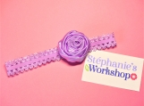 Lilas Satin Flower Baby headband