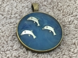 Ocean Life Pendant Dolphins #3090
