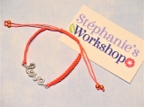 Grow With Me Orange/Pink Love Rhinestone Shamballa Bracelet
