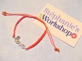 Orange/Pink Love Rhinestone Shamballa Bracelet