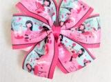 Paris pink children hair bow
