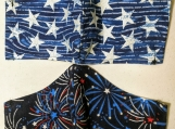 Patriotic theme reusable fabric masks (set of two)