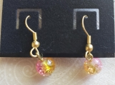 Pink and Gold Earrings