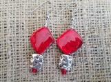 Red Abalone drop earrings