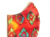 Red Diamonds Batik Mask