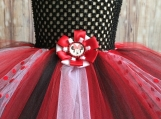 Red Minnie Mouse Tutu Dress Size 3-5 years old with hairclip