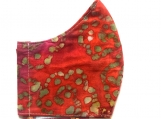 Red Mottled Batik Mask