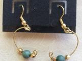 Semicircle Earrings in Green