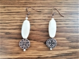 Southwest Design Copper & Cream drop earrings