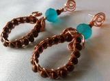 Spiral Woven Hoop Earrings
