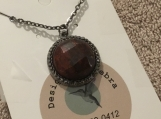 Stone Pendant Necklace with Chain #3084