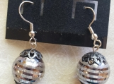 Striped Ball Earrings