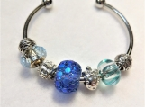 Sun and Strawberry Blue bracelet