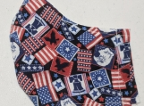 US postage stamp print reusable fabric face mask