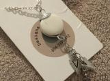 White Turquoise Pendant Necklace #3083