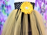 Yellow and Black Bee Tutu dress or skirt