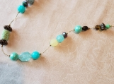 Aqua and Lime Necklace