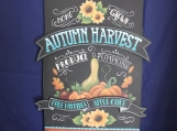 Autumn Harvest Pumpkin Shaped Plaque