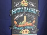 Autumn Harvest Pumpkin Shaped Plaque