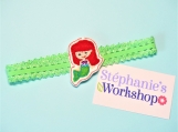 Baby Little Mermaid Green Elastic Headband