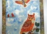 Barn Owl Wall Quilt - QW7