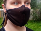 Black Large Breathable Handmade Organic Mask