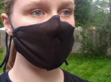 Black Medium Breathable Handmade Organic Mask