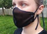Black Small Breathable Handmade Organic Mask