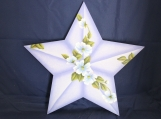 Blue Floral Star Wall Art