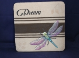 Dream Dragonfly with Leaves Wall Art