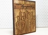 Faux Wood Floral Sympathy Card