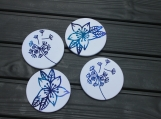 Flower Dye Sublimation Sandstone Coasters