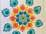 Flower Power Mandala Tile