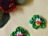 Green Minnie Mouse Halloween Hair bows set of 2