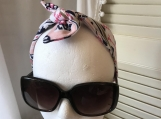 Hairband Accessory - Pink/Blue Aztec Print