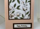 Handmade Birthday Card (feminine, floral)