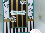Handmade Birthday Card (bumblebees)