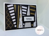 Handmade Greeting Cards - Wedding (Bold Stripes)