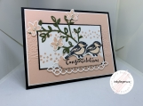 Handmade Greeting Card - Wedding (Lovebirds)