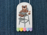 High Chair Teddy Bear Ornament