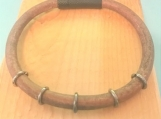 Leather bracelet - 5 rings