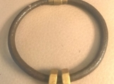 Leather bracelet - Brass nuts