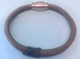 Leather bracelet - brown wrap