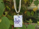 Mother of pearl, rectangle dandelion necklace