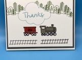 My Childrens Thankyou Cards-Train Boy