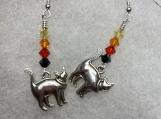 My Feline Earrings-blk/orang
