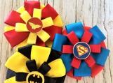 Superhero (batman, wonder woman, superman) children hair bow set